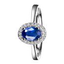 Zocai Ring Sapphire 18K White-Gold