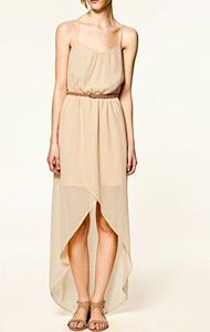 Asymmetrical Hem Chiffon Flowy Dresses