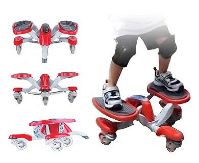Four-wheel Orbit Wheel Skateboard