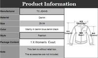 TC] Женская одежда Джинсовая рубашка & Блузки для женщин 100% все матч хлопок джинсовые рубашки девочек моды женской одежды