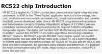 Электронные компоненты MFRC-522 RC522 RFID RF IC card sensor module