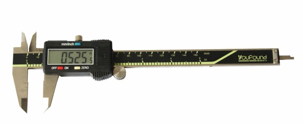 """Бесплатная доставка 6 """" цифровые электронные суппорт жк-дисплей и батарея новый точность измерения чехол"""