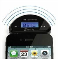 FM трансмиттер 3.5mm Audio FM Transmitter Car Charger for iPhone Samsung Galaxy S III i9300 i9100 & Drop Shipping