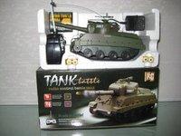 Рождественские игрушки rc танк с мягкой пластиковой пулей, разные цвета