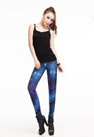 Женские носки и Колготки NEWEST! Slim blue Galaxy leggings13235 Spandex Cosmos Jegging Tie dye body shaping Pants