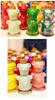 Free shipping by China post/2pcs/lot,nail polish of bear botttle,(color same as picture),best/selling