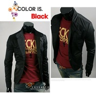 Мужская ветровка New Slim Sexy Top Designed Mens Jacket Coat Colour:Black US Size:XS, S, M 1002