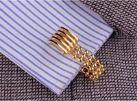 Запонки и зажимы для галстука 26 French shirt cuff men's cufflinks gold chain