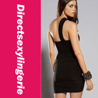 Sexy Fashion Design Women's Forplay Black Mesh Zig-zag Mini Dress Sexy Clubwear Night Dress Free Shipping Drop Shipping  LC2630