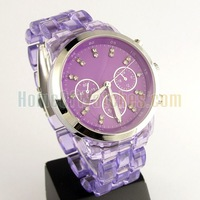 Наручные часы Fashion Purple Boys Girls Analog Quartz Wrist Watches