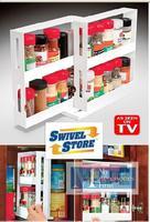 Держатели и Стойки для хранения double-deck rotatable home kitchenware orgnizer as seen on TV Swivel Food store Seasoning apothecary jar frame