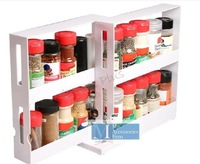 Держатели и Стойки для хранения double-deck rotatable home kitchenware orgnizer as seen on TV Swivel Food store Seasoning apothecary jar frame