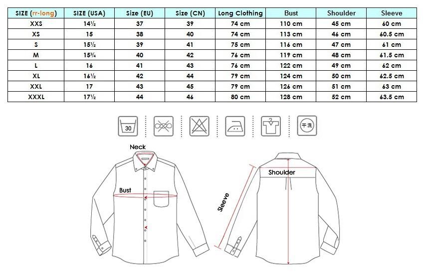 Dress shirt sizes chart eagle van heusen and izod shirt for Mens dress shirt sizes conversion