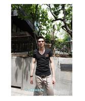 Designer Tshirt For Men Summer Fashion Print T-shirts Cotton O Neck Short Sleeve Black Tee T shirt Freeship CJ13