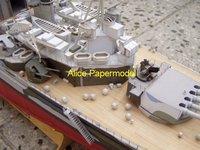 Игрушечная техника и Автомобили WWII British battleship model Prince of Wales HMS Prince of Wales papermodel] 1,2 1: 200 HMS WWII British battleship model Prince of Wales HMS Prince of Wales mili