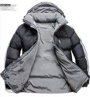 Men Double Side Wear Thicken Winter Outdoor Windbreaker Heavy Coats Down Jacket Clothes L XL XXL XXXLFree Shipping Black
