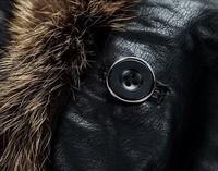 HOT!!! Men's Winter Casual Brand luxury fur genuine Lamb leather men's Fur collar coat Leather jacket,M-4XL free shipping