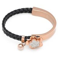 Кожаный браслет Attract jewelry  07502