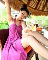 Женский раздельный купальник best quality women one pieces dress swimwear bikini purple, black, plus size M L XL XXL