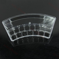 Дисплей для ювелирных изделий New Arc-shaped Cosmetic Stand Organizer Drawers Makeup Display Rack Case Lipstick Box Holder With 3 Tiers