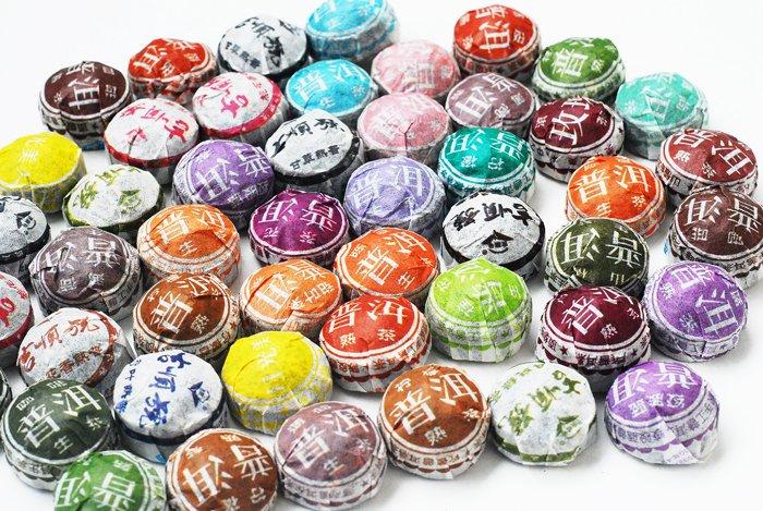 לעשות קידום! משלוח חינם! 50pcs 35 סוגים טעם פו אר תה, Pu'erh, יונאן ילד תה, תה סיני