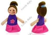 довольно Русалочка о новые 4шт/набор Рождество животных палец кукольный, палец игрушка, кукла палец, Детские игрушки 6909