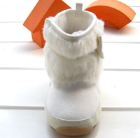 Детские ботинки New winter popular baby girls beige bowtie warm footwear boots toddler rubber sole non-slip snow boots 3pair/lot 8883B