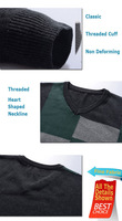 Мужской пуловер Holiday Sale! 2012 Men's Sweater, Classic Brief Color Block Pattern, Simple and Casual Men's Knitwear, ! M0012