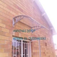 Free shipment! plastic alloy brackets, 100cm depth, 240cm width Polycarbonate rain canopy, rain awning