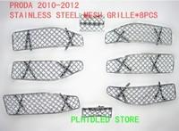 Специализированный магазин Excellent Stainless Steel Grill, 2010-2012 TOYOTA PRADO Stainless Steel Mesh Grille Grill Insert * 8PCS