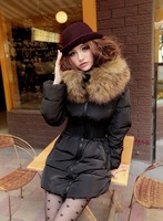 Женские пуховики, Куртки BELT! brand new winter fashion women's Long Nagymaros collar big oversized fur collar down jacket ladies coat tops