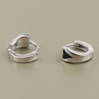 Серьги висячие Fashion Round Simple With Drip Heart 925 sterling silver ear buckle