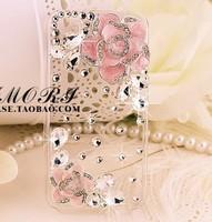 Чехол для для мобильных телефонов transparent white pink flower mobile-phone case for Iphone 4/4S/5