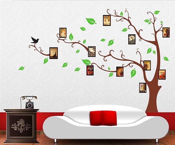 Рисунки деревьев на стене в квартире своими руками 72