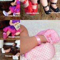 Baby Light Pink Rosettes Crib Shoes MAS118
