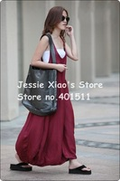 D0085 free shipping  2011 NEW high quality women's fashion linen  dress