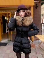 Женские пуховики, Куртки BELT! brand new winter fashion women's Long Nagymaros collar big oversized fur collar down jacket ladies coat tops