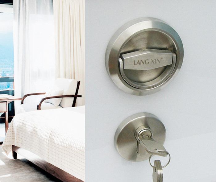 Stainless Steel 304 Recessed Cup Handle Knob Privacy Door Locks And Key Set Ebay