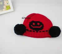Шапка для мальчиков Multicolor Winter Cotton Baby Hat Children Crochet Hats Smiling Face Kids Hat