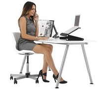 Free shipping gold supplier new brand high quality and folding aluminum computer table, laptop desk, computer des