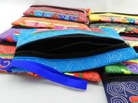 Маленькая сумочка Yunnan Ethnic bags retro female flower embroidery wallet Wristlet ten-color portable hand-rolled cloth