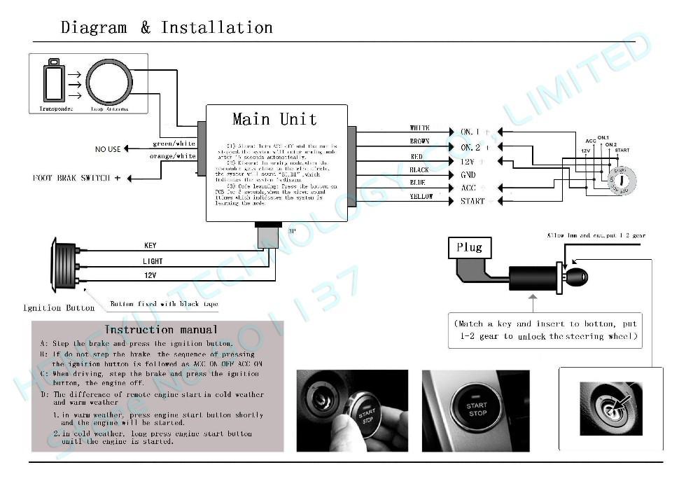 online cheap car engine push start button  rfid engine lock