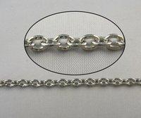4 метров небольшой овальный кабельные металлические цепи 5x10mm m18603
