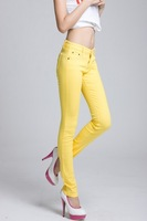 Женские джинсы women's candy multicolour basic casual pants skinny jeans thin pencil jeans