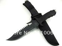 """Free Shipping Steel Blade Edge 300mm/12"""" Sharp Knife Long Assault Cutter  knife  KF-342"""