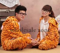 Женская пижама 2pcs/lot EMS/UPS Ship Women's men's onesie tiger kigurumi Lovers Hooded pajama Cartoon Fancy Stage Dress Chirsmas Gift