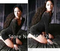 Женское платье 2012 New Korea fashion Women's Sexy Beautiful Design Sparkling Puff Long Sleeve Mini Dress Hot 2314