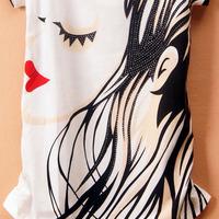 Женская футболка Good quality cotton t-shirt Korean Round-neck women's SHORT sleeve VARIOUS Style T-shirt Women Top Wear T shirt 10 style
