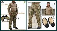 Эмерсон g3 bdu многокамерный единообразных рубашки брюки колена колодки airsoft боевой военной армии костюм cp mc мульти Вебкамеры