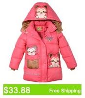 Жилет для девочек 5-10yrs warm girls vests leopard print thick childrens hooded vest red white winter tops 9009